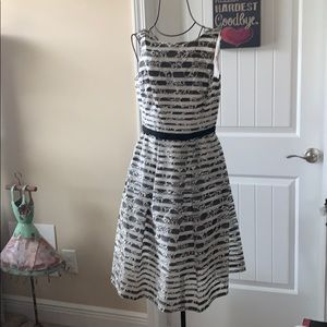 Taylor black and white Easter dress